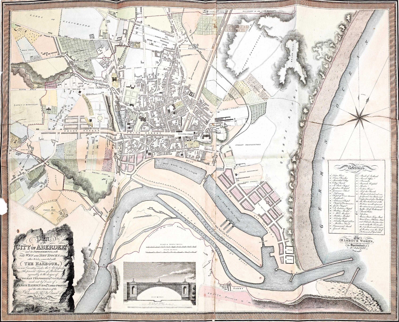A rare map of Aberdeen
