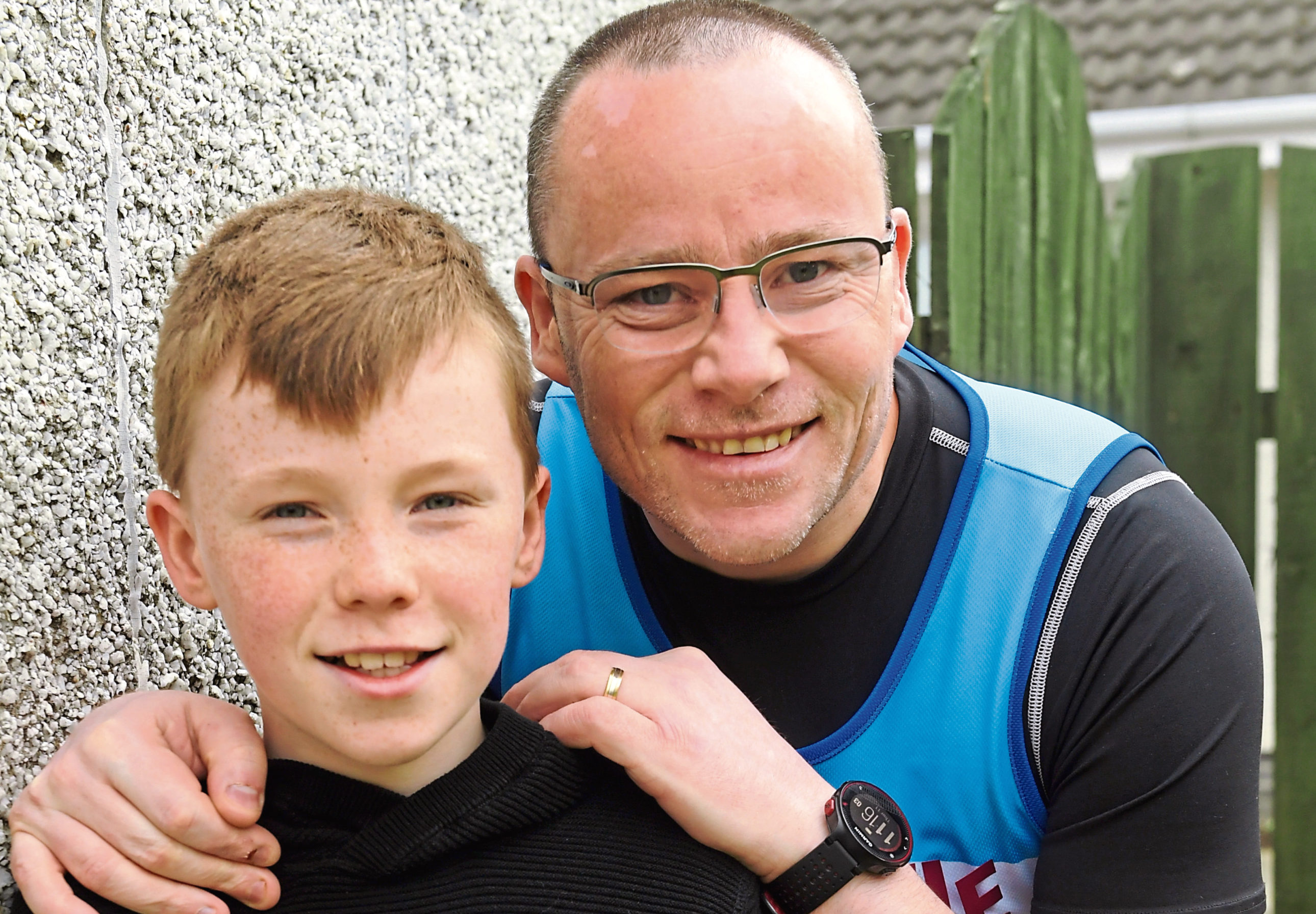 Sgt Davie Cowie with his son Adam