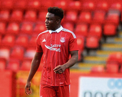 Dons youth player David Dangana is alleged to have been the victim of an attempt to rob him at knifepoint