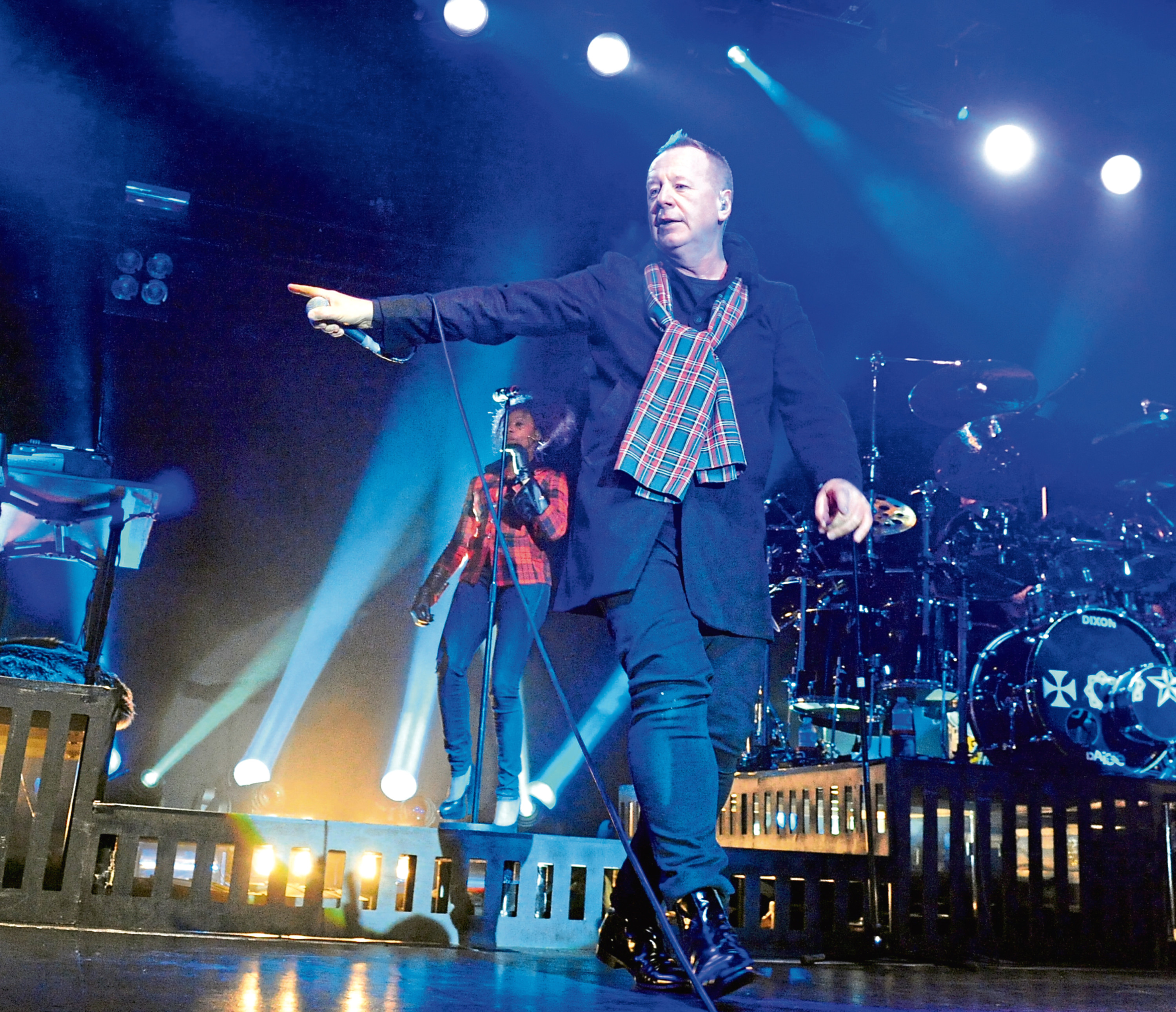 Jim kerr and the Simple Minds concert during the hogmany celebrations, Stonehaven.  Picture by JIM IRVINE      31-12-13    .