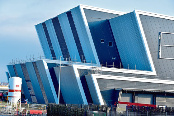 Work continues on the new AECC  - The Event Complex Aberdeen (TECA) Picture by COLIN RENNIE   January 19, 2019