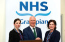 NHS Grampian Chair Lynda Lynch, Joe Fitzpatrick MSP and NHS Grampian Chief Exec Prof Amanda Croft