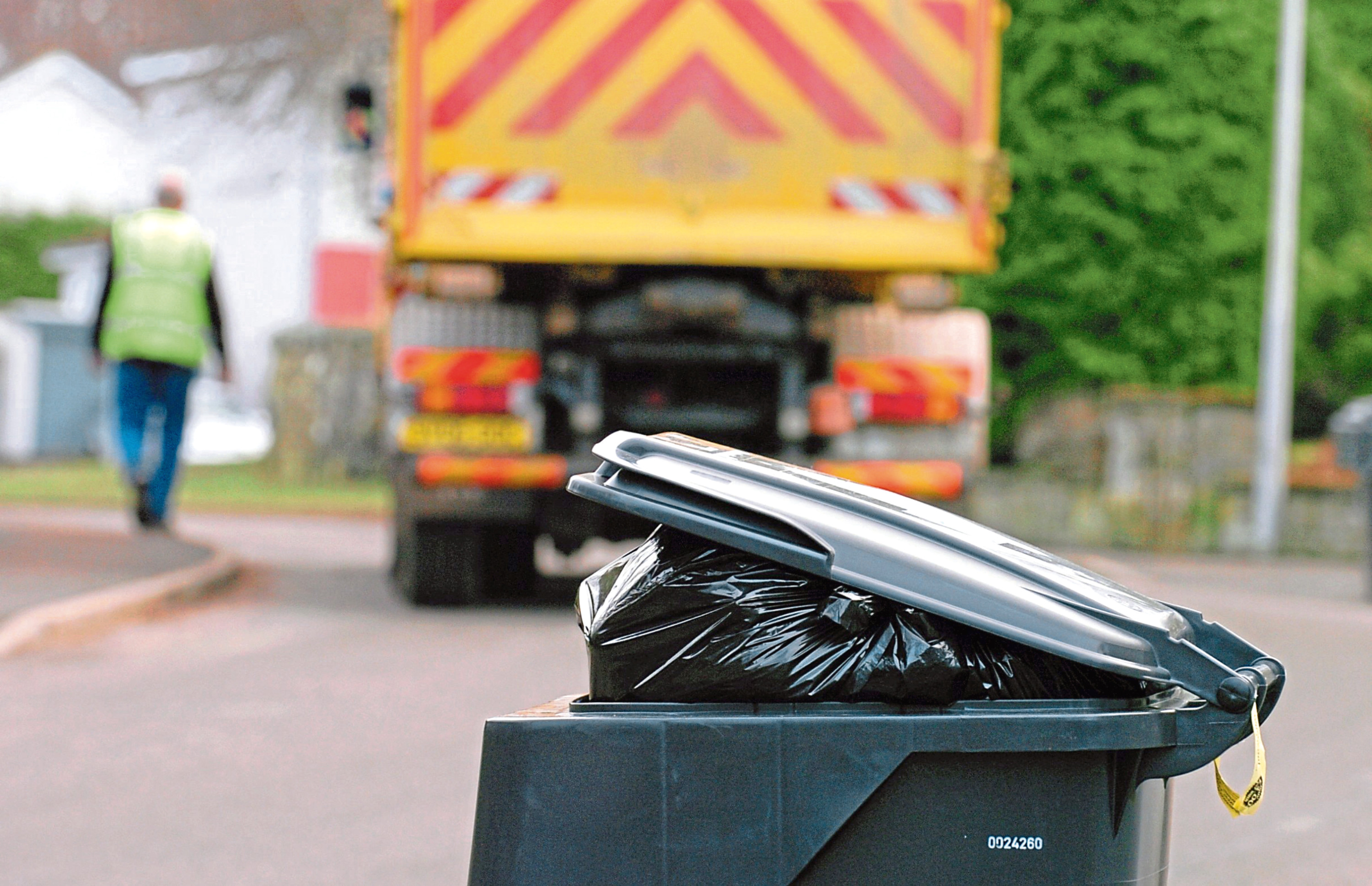 The council said that a new mixed recycling service meant there were more bins on the street.