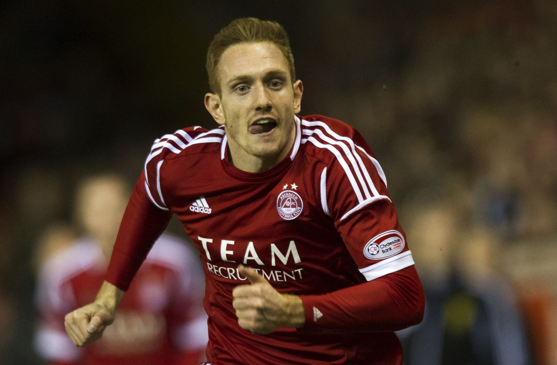 Rob Milsom in action for Aberdeen.