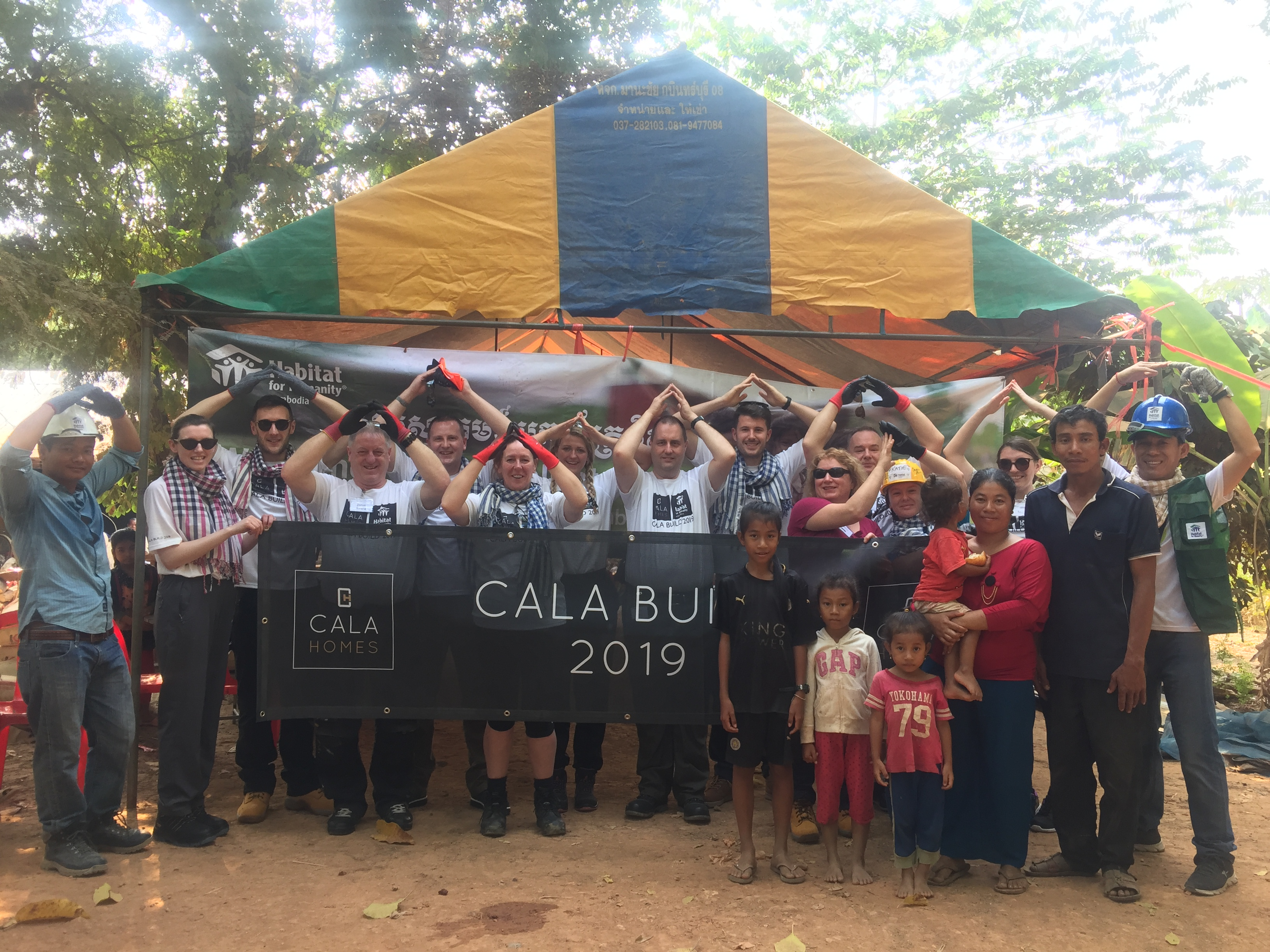 The team in Cambodia