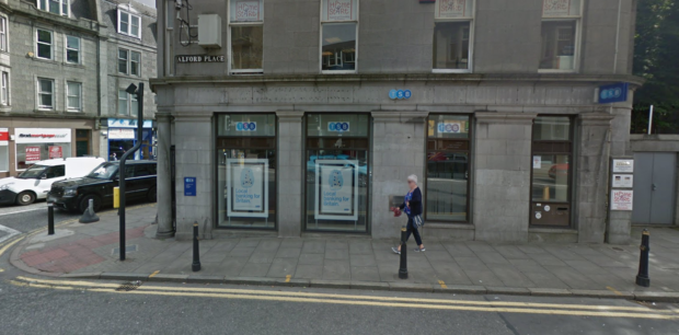 The TSB branch on Holburn Street will be closing