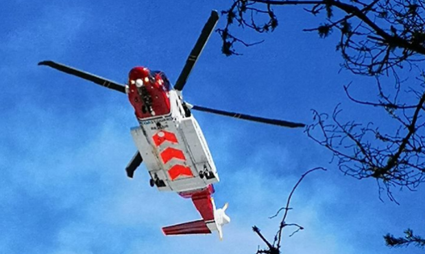 Rescue 951 comes into land at Glenmore Lodge
