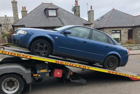 A vehicle was seized in Fraserburgh