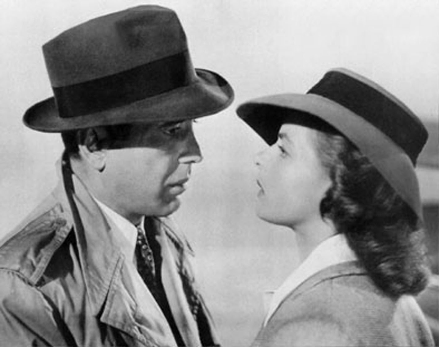 Still from film Casablanca with Bergman and Bogart