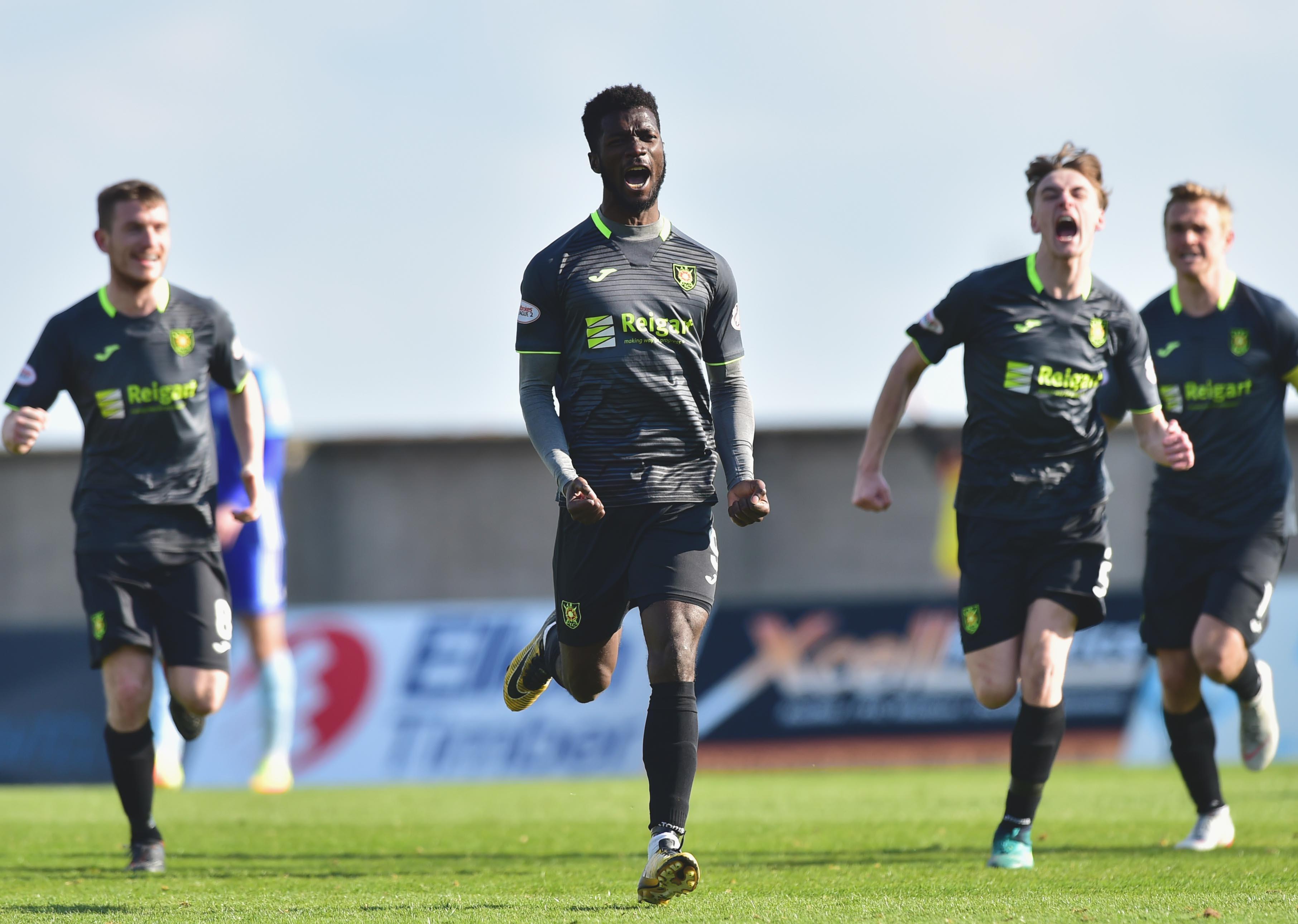 Rovers' Smart Osadolor celebrates his equaliser