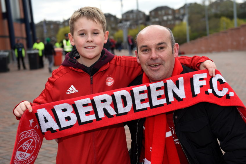 Graham MacDonald and son Daniel, 11.