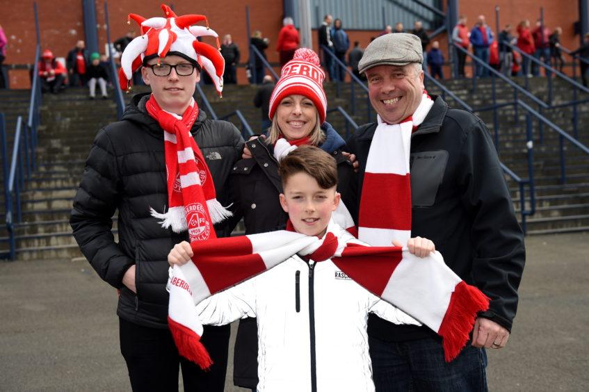 (L-R) Kyle Ubych, Gail Ubych, Marcus Ybych and Lewis Ubych, 11, (front).