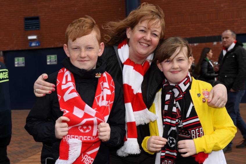Sandy Stewart, 12, Fiona Gordon, Kirsty Stewart, 9.