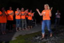 Fundraisers took part in the firewalk for Charlie House