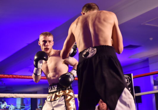 Survivex firefighting instuctor Billy Stuart is undefeated in his pro boxing career to date.