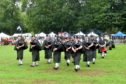 Pipers from Newtonhill Pipe Band at the Banchory Show