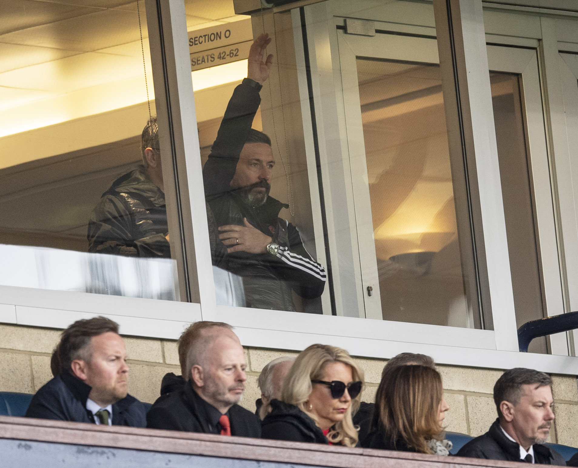 Aberdeen manager Derek McInnes after being sent to the stands at Hampden