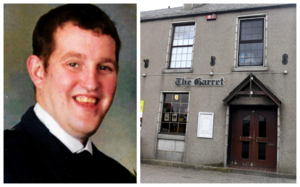 Philip Eddie collapsed in The Garret Bar and Lounge Mintlaw