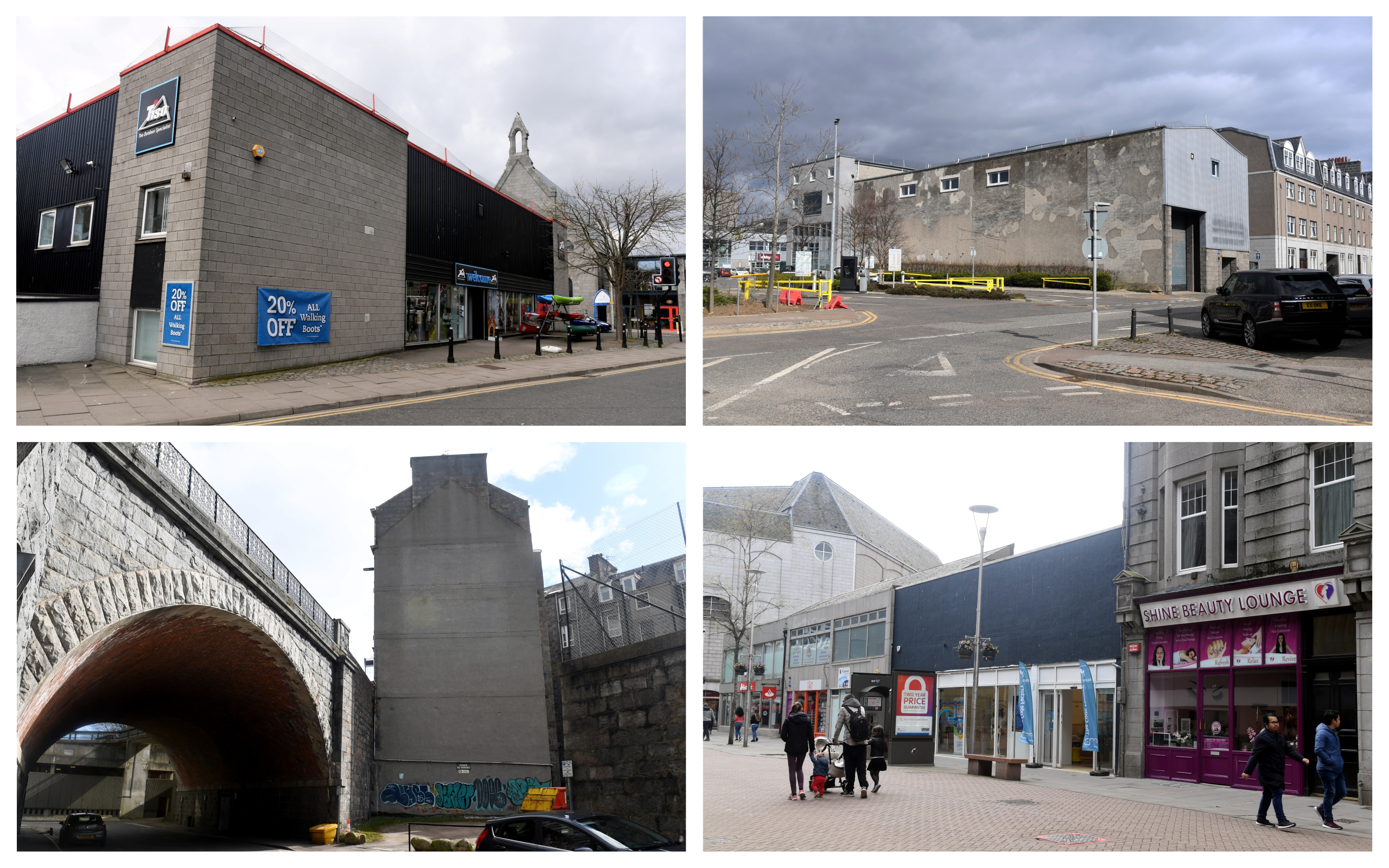 Some of the walls that will be transformed for this year's Nuart