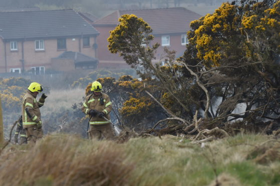 Firefighters on scene at Scotstown Moor