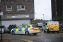 Police at Hutcheon Court