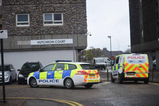 Police at Hutcheon Court
