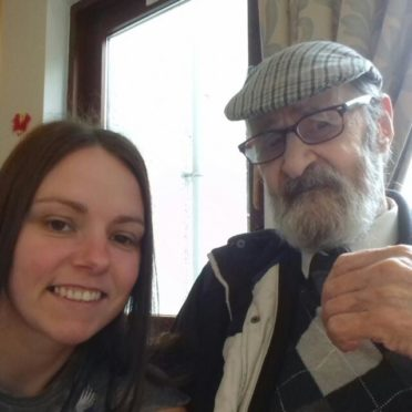 Natalie Brown with her granda, who was her 'inspiration'
