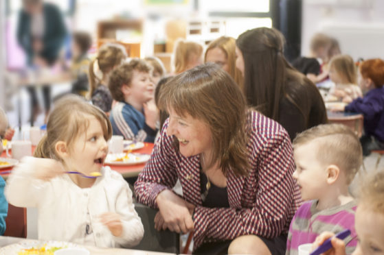 Minister for Children and Young People, Maree Todd MSP at a recent visit to Seafield Nursery