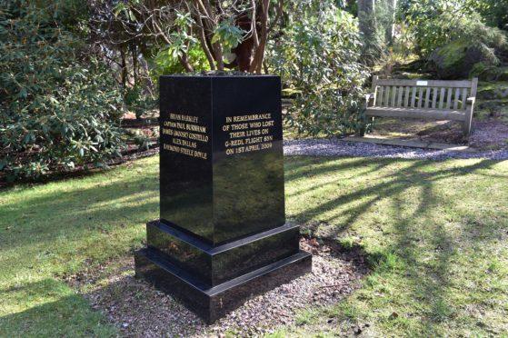 The memorial at Johnston Gardens