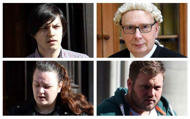Clockwise, from top left, Kieran Wilson, Sheriff Graham Napier, Rebekah Fulton and Kieran Holmes