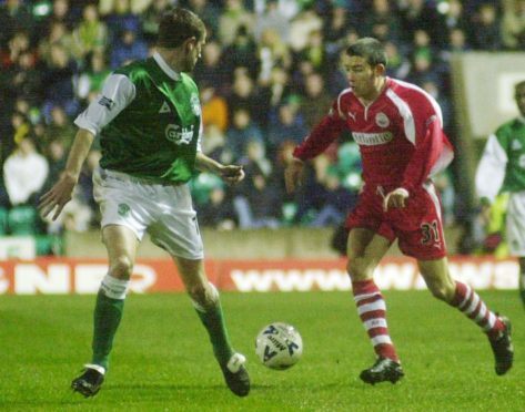 Kevin McNaughton in action for Aberdeen in 2000.