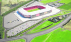 An impression of the new Aberdeen stadium at Kingsford.