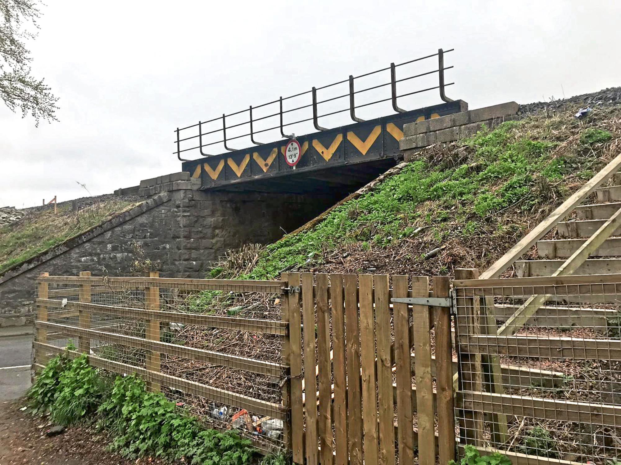 The railway bridge on Keithhall Road