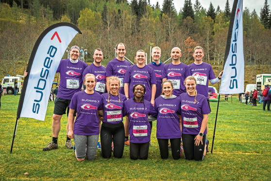 Subsea 7 Team taking part in Run Balmoral for VSA