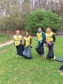 The group of volunteers helped to tidy up the popular city park