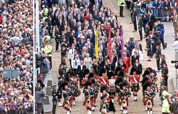 The opening of the Scottish Parliament