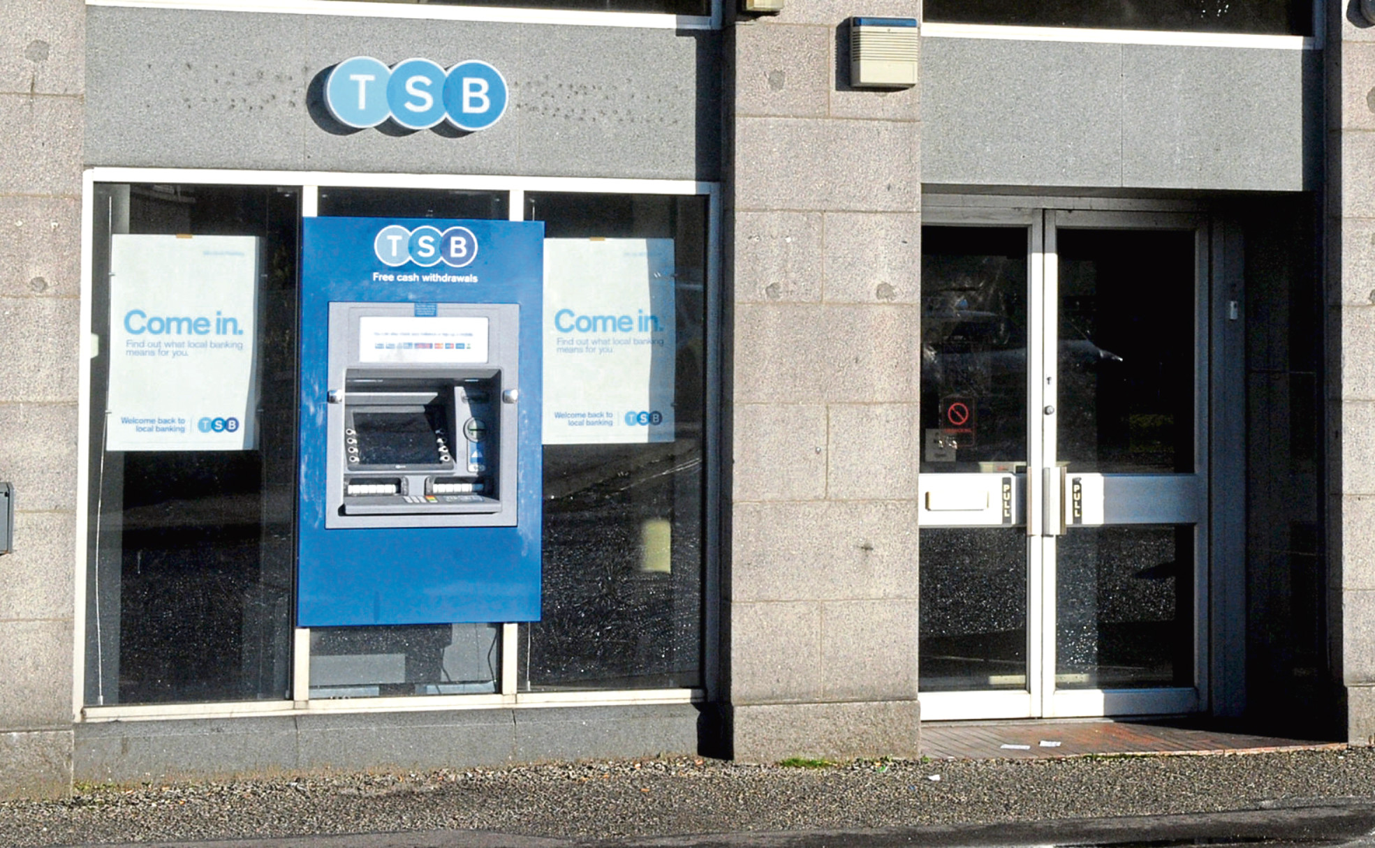 The TSB Bank on Oldmeldrum Road