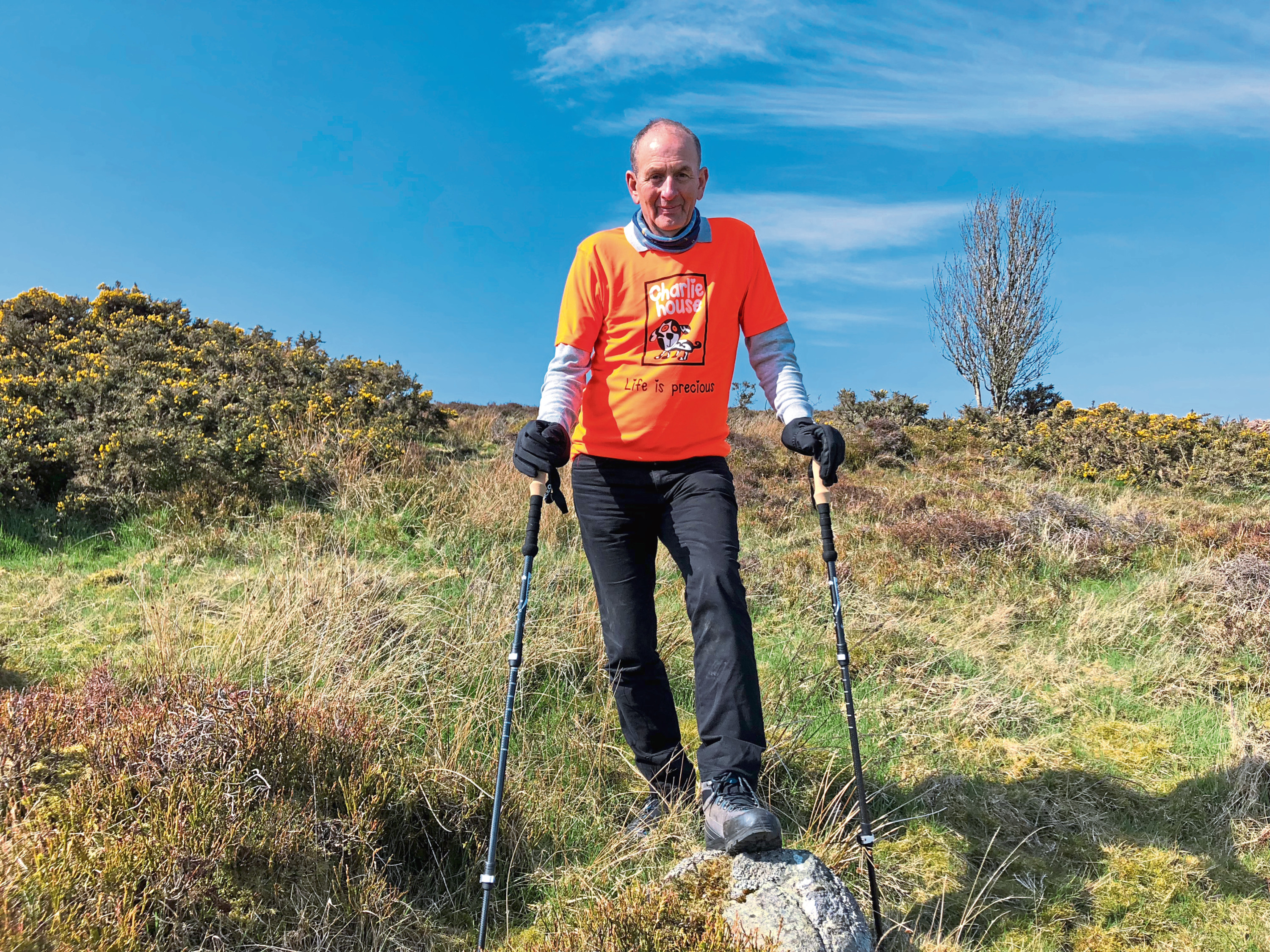 Willie Donald, of W M Donald, took on the West Highland Way challenge