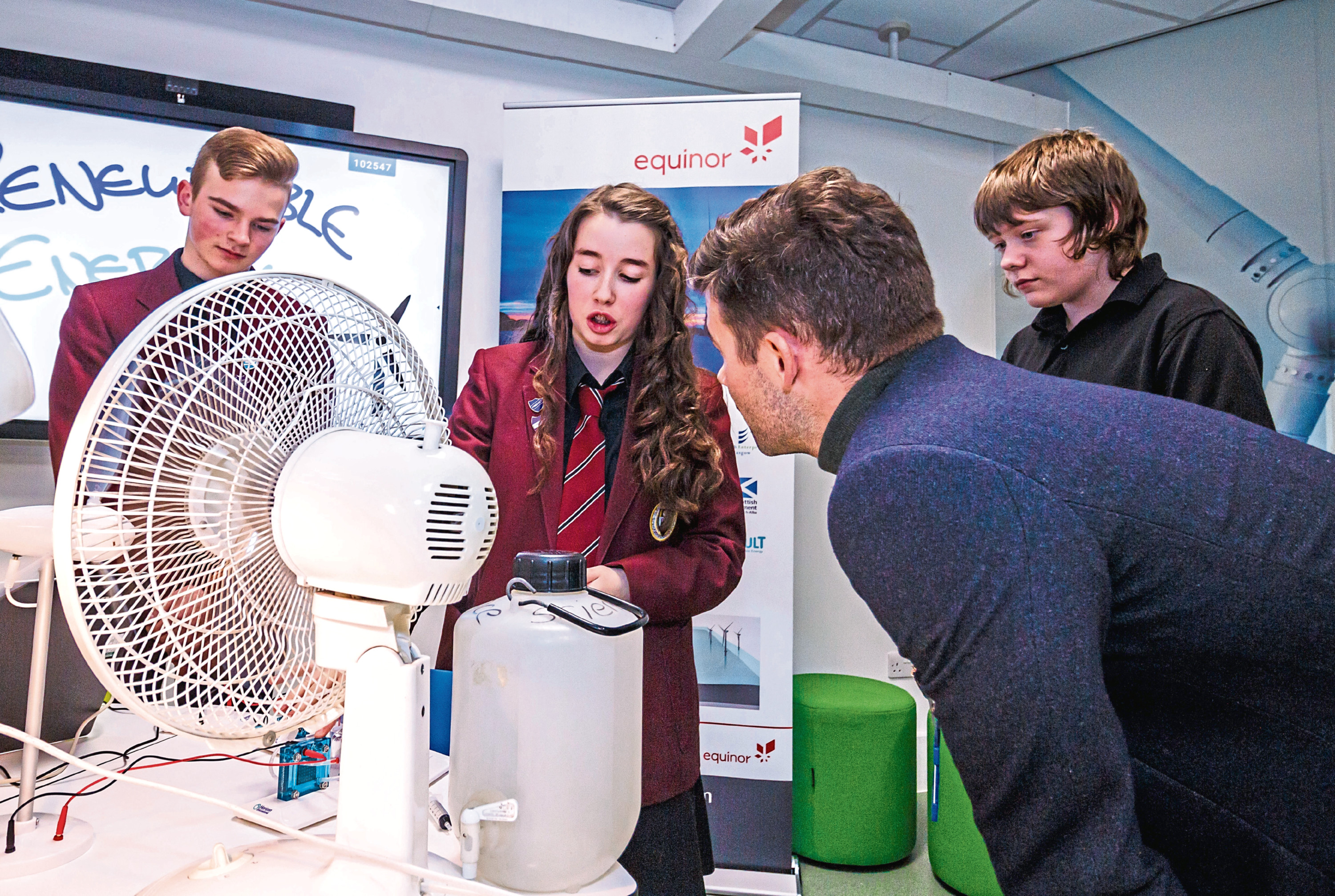 Peterhead Academy pupils take part in the STEM project