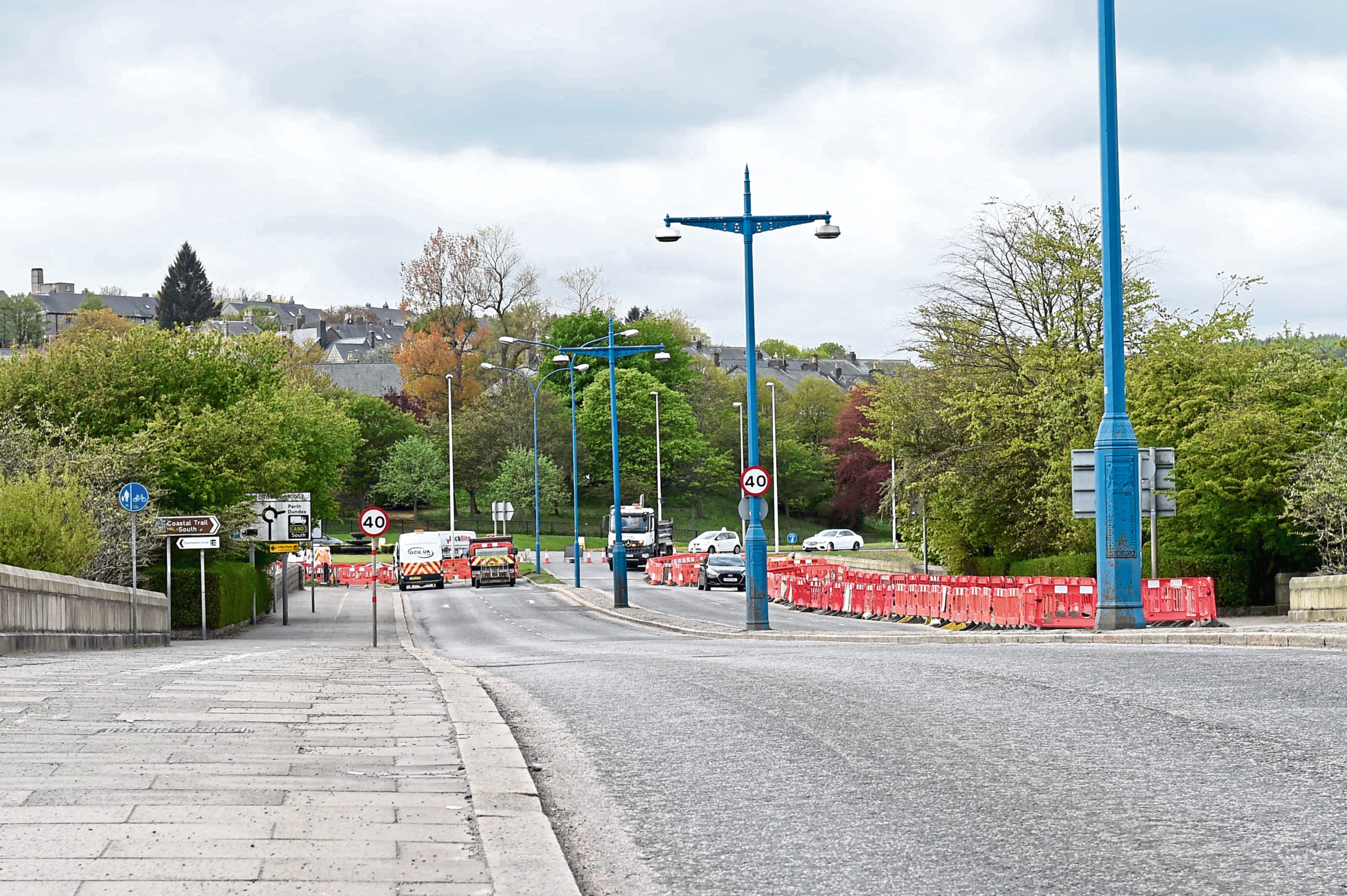 Roadworks at the bridge have been extended again
