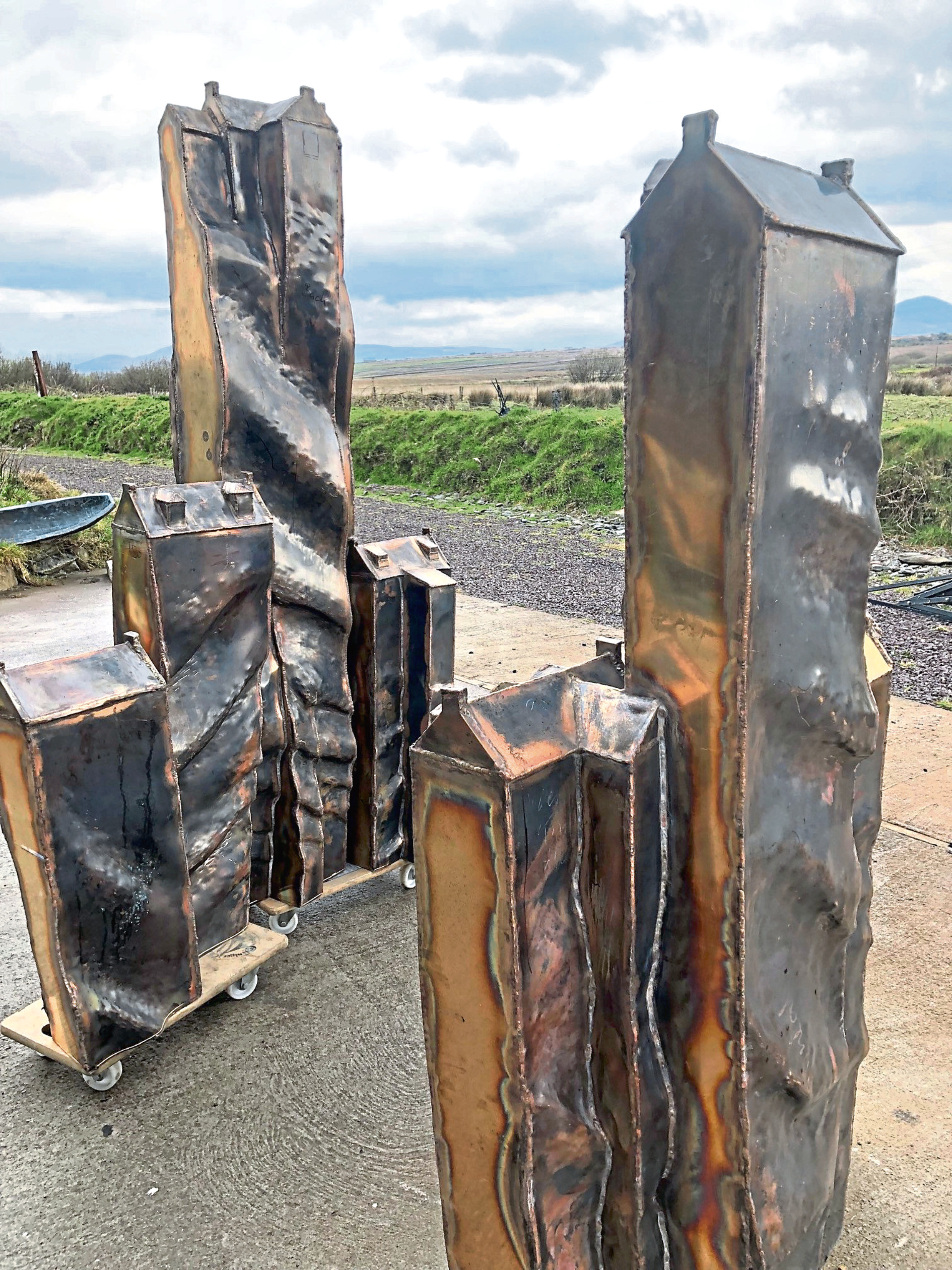 The bronze sculpture created by artist Holger will be unveiled in Westhill this weekend