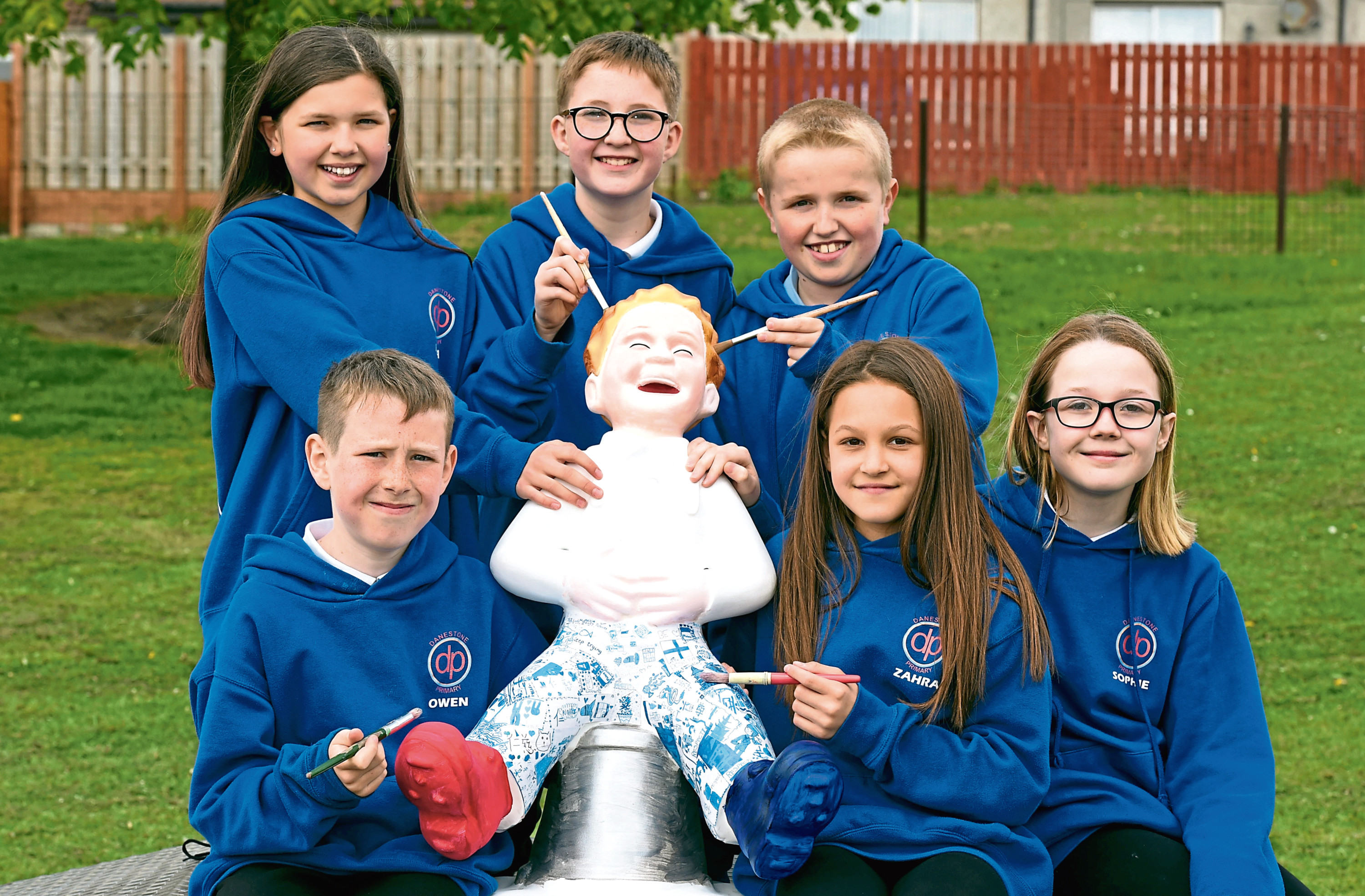 Pupils at Danestone Primary School are having a fundraiser for the Oor Wullie Bucket Trail