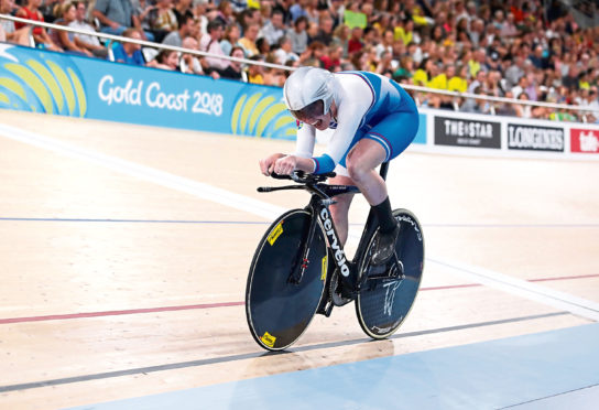 Katie Archibald of Scotland competes at the Commonwealth Games.