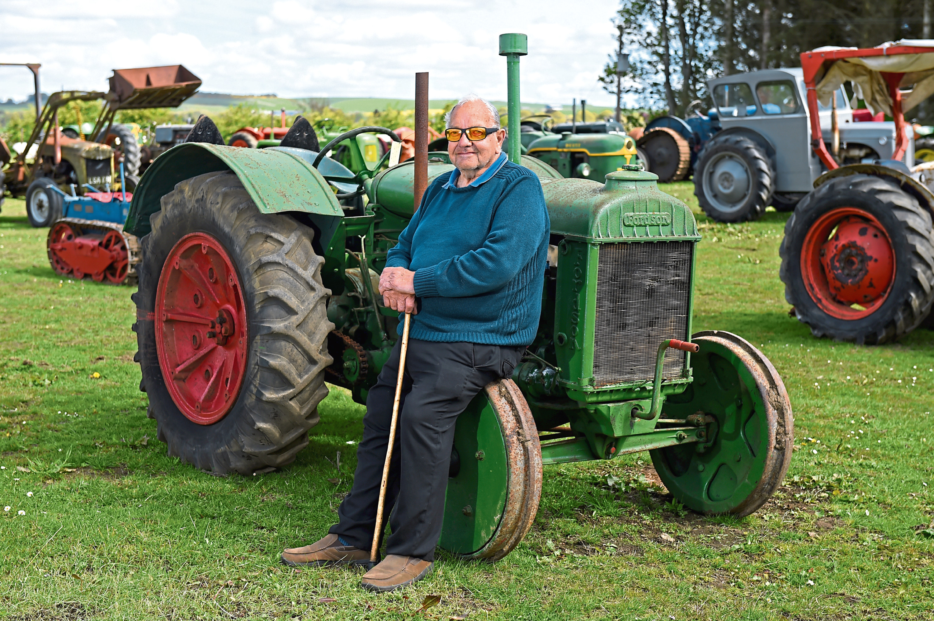 CR0009168 Tractor collectorDavie Reid is selling his collection of 50 tractors at Gardiners Croft, Newmachar, this weekend.  Picture by KENNY ELRICK     09/05/2019