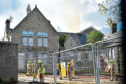 The Scottish Fire and Rescue Service attended the blaze at Victoria Road School, which broke out on Friday