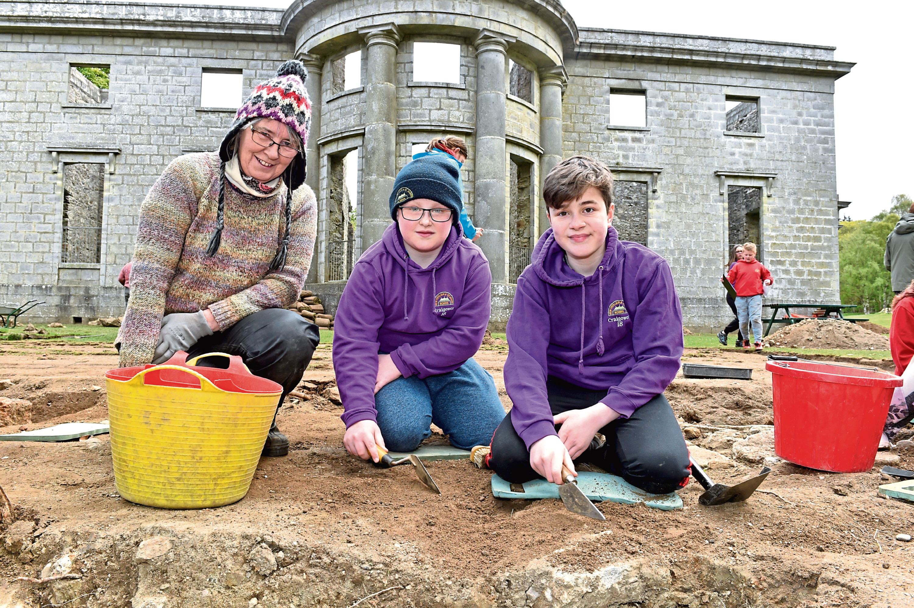 Pupils from New Pitsligo Primary helped with an archaeological dig near the Mansion House at Aden Country Park.