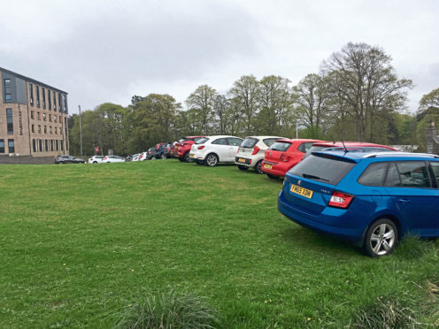 Parking on the grass has become a problem in the area