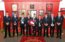 Aberdeen Grammar School pupils who are to lay a wreath at the Menin Gate in memory of Dons players who died in the First World War