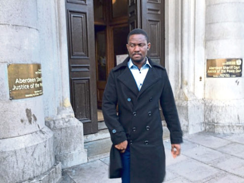 Dokubo Bokolo leaving Aberdeen Sheriff Court