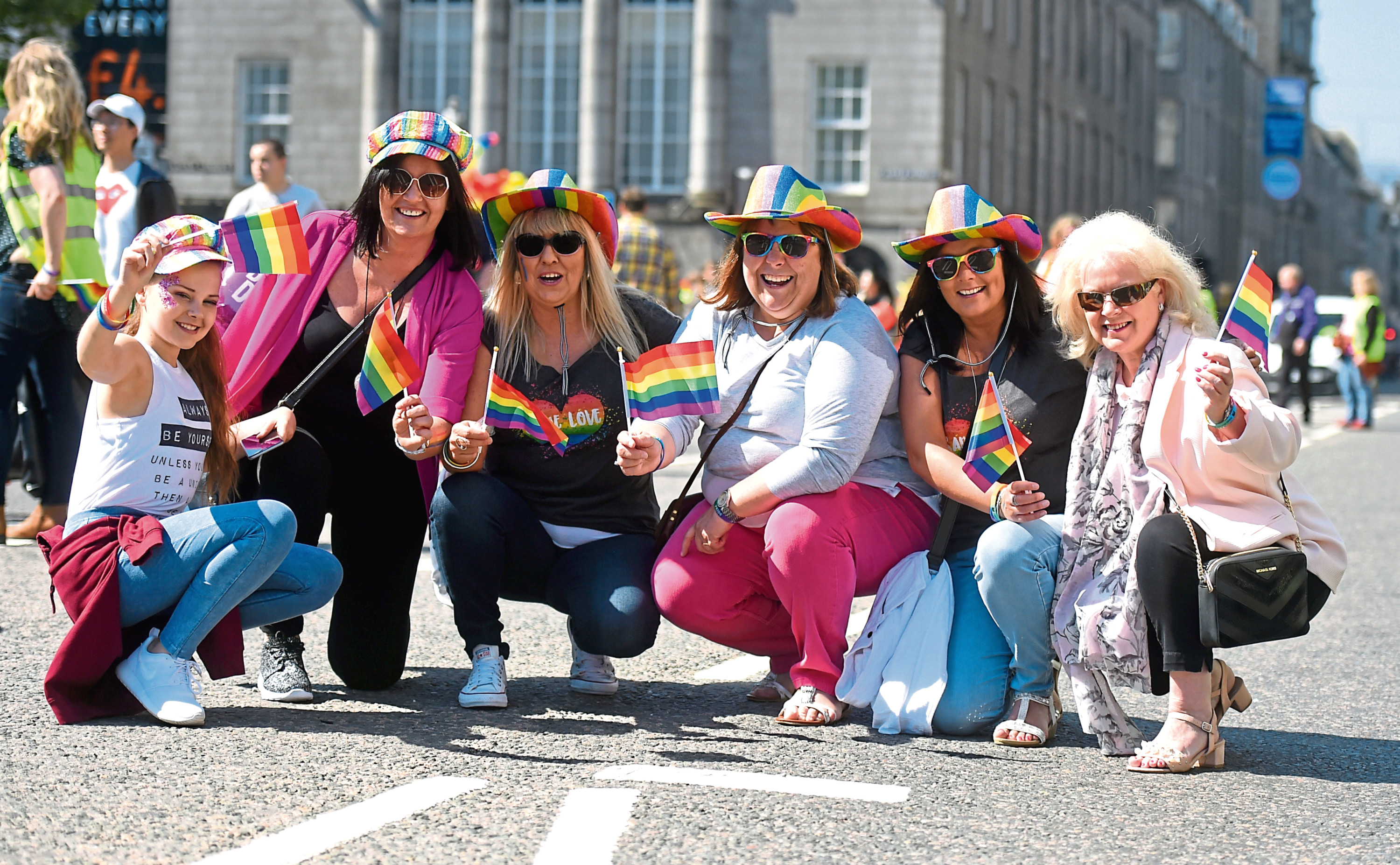 Grampian Pride Parade on Union Street. 26/05/18 Picture by HEATHER FOWLIE